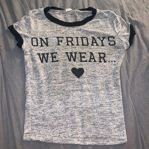 """On Friday We Wear"" Crop Top🖤"